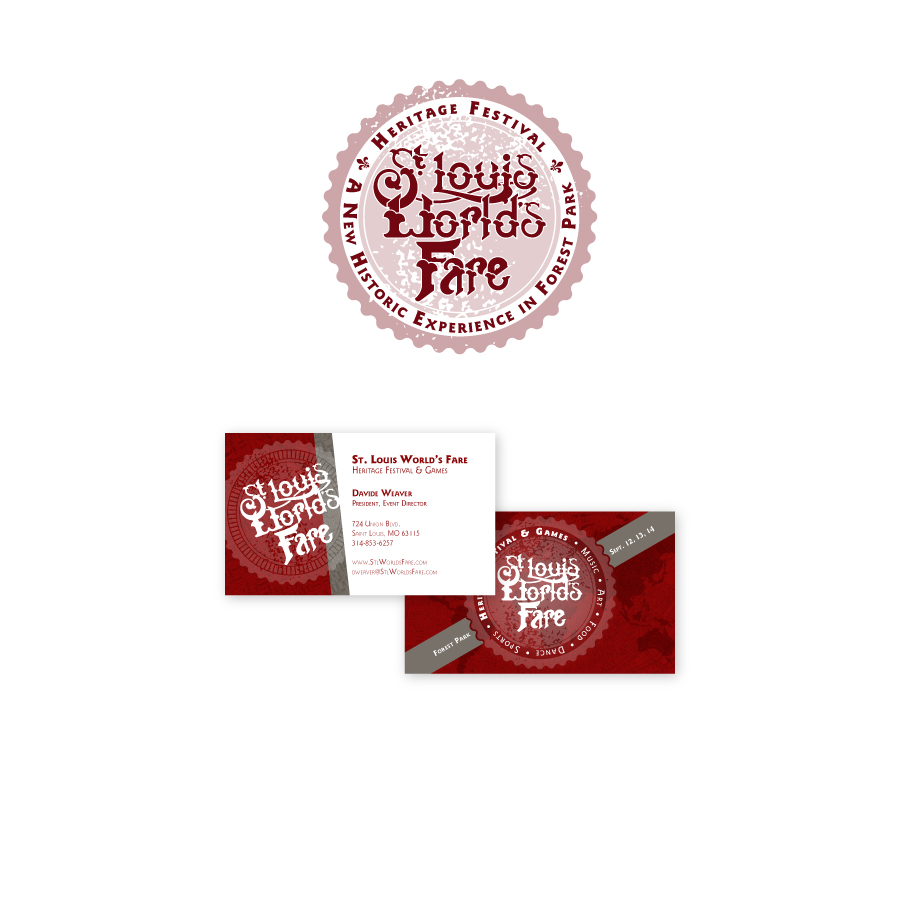 // St. Louis World's Fare  Corporate Identity & Business Card