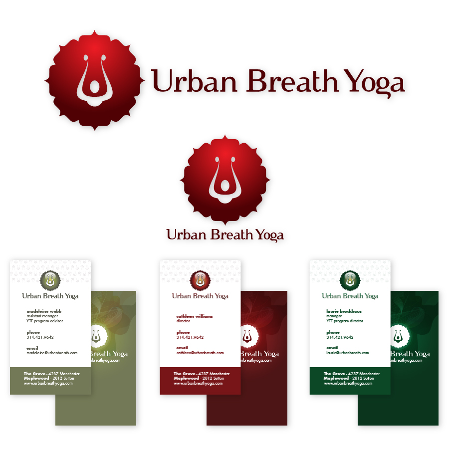 // Urban Breath Yoga  Corporate Identity & Business Cards